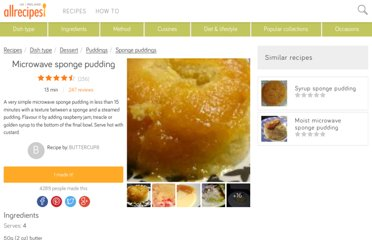 http://allrecipes.co.uk/recipe/165/microwave-sponge-pudding.aspx