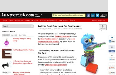 http://lawyerist.com/twitter-best-practices-for-businesses/