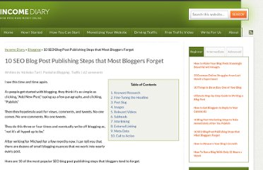 http://www.incomediary.com/seo-blog-post-publishing-steps