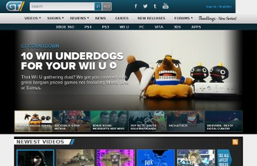 http://www.gametrailers.com/#newest_anchor