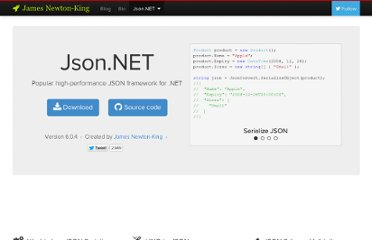 http://james.newtonking.com/projects/json-net.aspx