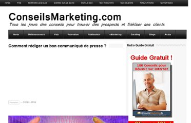 http://www.conseilsmarketing.com/communication/comment-rediger-un-bon-communique-de-presse