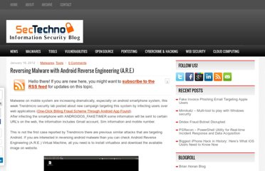 http://www.sectechno.com/2012/01/16/reversing-malware-with-android-reverse-engineering-a-r-e/