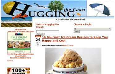 http://huggingthecoast.com/2010/05/24/16-gourmet-ice-cream-recipes-to-keep-you-happy-and-cool/
