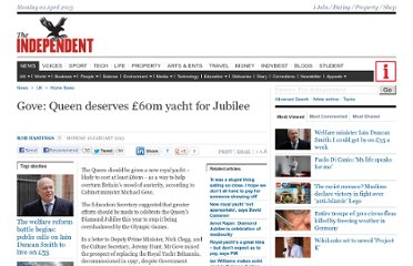 http://www.independent.co.uk/news/uk/home-news/gove-queen-deserves-60m-yacht-for-jubilee-6290272.html