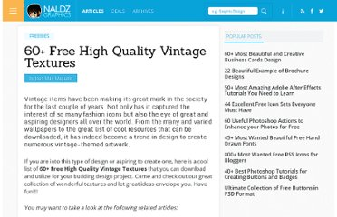 http://naldzgraphics.net/freebies/60-free-high-quality-vintage-textures/