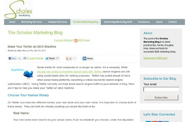 http://www.scholesmarketing.com/scholes-knows-marketing-blog/bid/77973/Make-Your-Twitter-an-SEO-Machine
