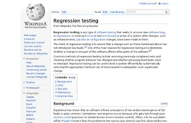http://en.wikipedia.org/wiki/Regression_testing