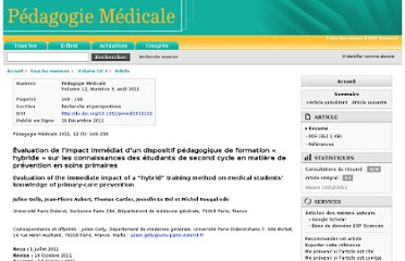 http://www.pedagogie-medicale.org/index.php?option=com_article&access=doi&doi=10.1051/pmed/2011102&Itemid=129