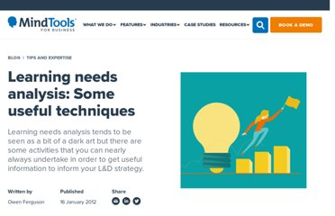 http://goodpractice.com/blog/learning-needs-analysis-some-useful-techniques/
