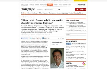 http://lentreprise.lexpress.fr/creation-entreprise/philippe-hayat-monter-sa-boite-une-solution-alternative-au-chomage-des-jeunes_31722.html?xtor=EPR-11-%5BENT_Zapping%5D-20120117--4027378@192854655-20120117065946