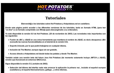 http://platea.pntic.mec.es/~iali/CN/Hot_Potatoes/intro.htm