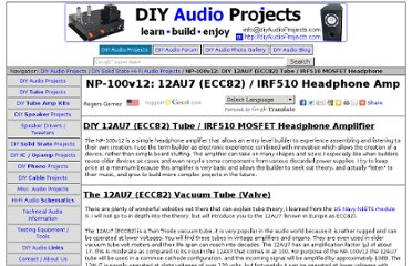 http://diyaudioprojects.com/Solid/12AU7-IRF510-LM317-Headamp/