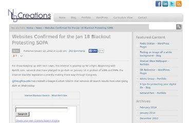 http://nlb-creations.com/2012/01/13/websites-confirmed-for-the-jan-18-blackout-protesting-sopa/