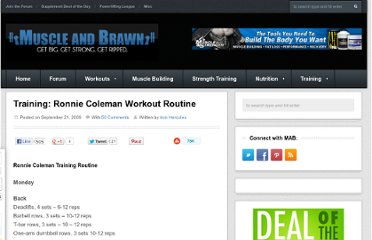 http://muscleandbrawn.com/training-ronnie-coleman-workout-rouine/