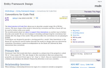 http://blogs.msdn.com/b/efdesign/archive/2010/06/01/conventions-for-code-first.aspx