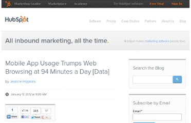http://blog.hubspot.com/blog/tabid/6307/bid/30862/Mobile-App-Usage-Trumps-Web-Browsing-at-94-Minutes-a-Day-Data.aspx