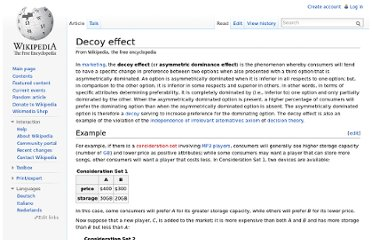 http://en.wikipedia.org/wiki/Decoy_effect