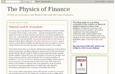 http://physicsoffinance.blogspot.com/2012/01/natural-models-of-markets.html