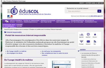 http://eduscol.education.fr/cid58727/internet-responsable.html?preview=1