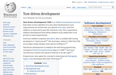 http://en.wikipedia.org/wiki/Test-driven_development