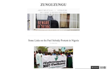 http://zunguzungu.wordpress.com/2012/01/17/some-links-on-the-fuel-subsidy-protests-in-nigeria/