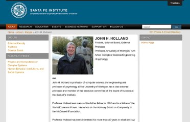 http://www.santafe.edu/about/people/profile/John%20H.%20Holland