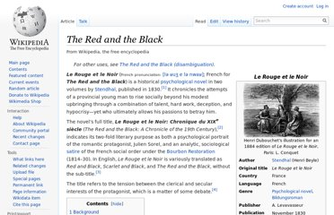 http://en.wikipedia.org/wiki/The_Red_and_the_Black
