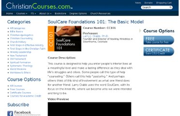 http://christiancourses.com/courses/soulcare-foundations-101-the-basic-model/