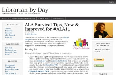 http://librarianbyday.net/2011/06/10/ala-survival-tips-new-improved-for-ala11/