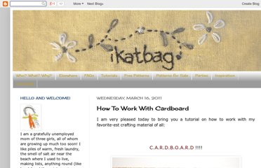 http://www.ikatbag.com/2011/03/how-to-work-with-cardboard.html