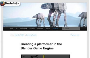 http://www.blendernation.com/2011/12/14/creating-a-platformer-in-the-blender-game-engine/