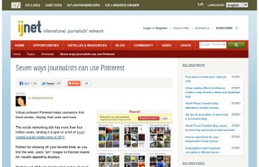 http://ijnet.org/stories/seven-ways-journalists-can-use-pinterest