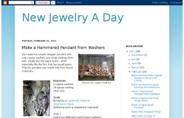 http://newjewelryaday.blogspot.com/2011/02/make-hammered-pendant-from-washers.html
