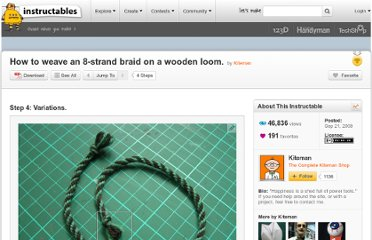 http://www.instructables.com/id/How-to-weave-an-8-strand-braid-on-a-wooden-loom/step4/Variations/