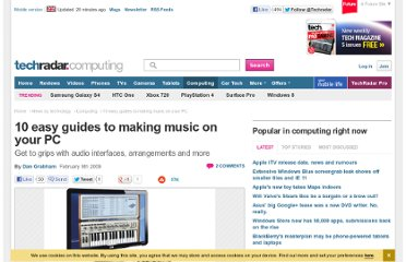 http://www.techradar.com/news/computing/10-easy-guides-to-making-music-on-your-pc-526962