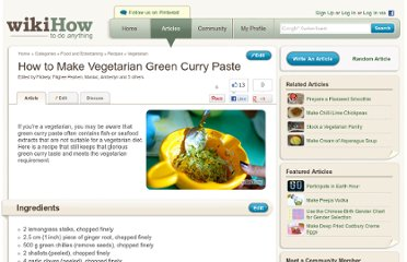 http://www.wikihow.com/Make-Vegetarian-Green-Curry-Paste