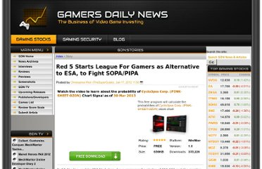 http://www.gamersdailynews.com/story-26591-Red-5-Starts-League-For-Gamers-as-Alternative-to-ESA-to-Fight-SOPAPIPA.html