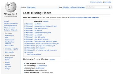 http://fr.wikipedia.org/wiki/Lost:_Missing_Pieces