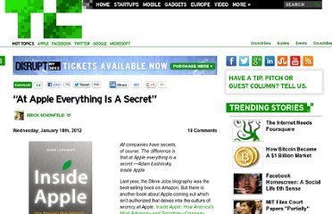 http://techcrunch.com/2012/01/18/apple-everything-secret/