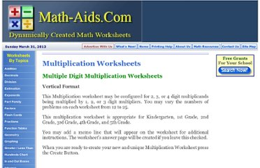 http://www.math-aids.com/Multiplication/Multiplication_Worksheets_MDV.html