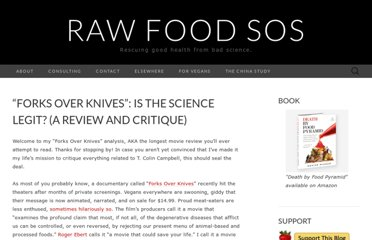 http://rawfoodsos.com/2011/09/22/forks-over-knives-is-the-science-legit-a-review-and-critique/