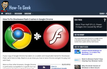 http://www.howtogeek.com/103292/how-to-fix-shockwave-flash-crashes-in-google-chrome/