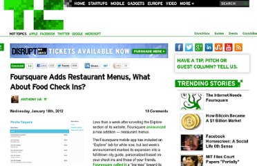 http://techcrunch.com/2012/01/18/foursquare-explore-menus/