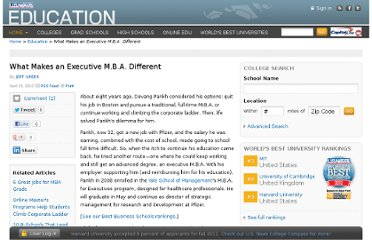 http://www.usnews.com/education/articles/2010/04/15/what-makes-an-executive-mba-different