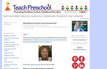 http://www.teachpreschool.org/2011/03/should-preschoolers-have-homework/