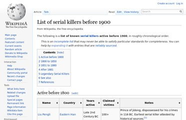 http://en.wikipedia.org/wiki/List_of_serial_killers_before_1900