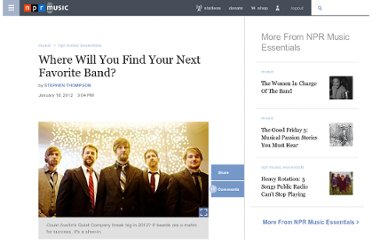 http://www.npr.org/2012/01/13/145173694/where-will-you-find-your-next-favorite-band
