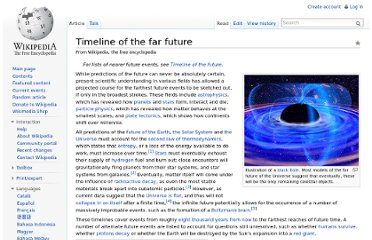 http://en.wikipedia.org/wiki/Timeline_of_the_far_future