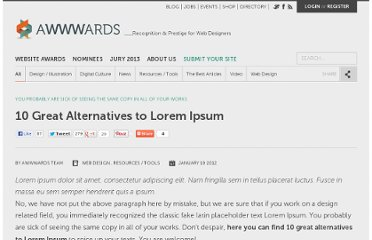 http://www.awwwards.com/10-great-alternatives-to-lorem-ipsum.html